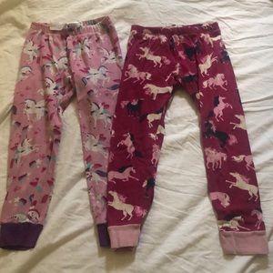 Hatley Pajamas - Unicorn and horse Hatley pajamas size 5 girls